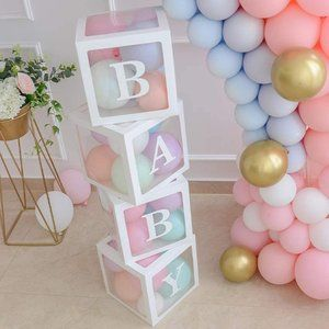 Baby Shower/ Gender Reveal Boxes Party Decorations
